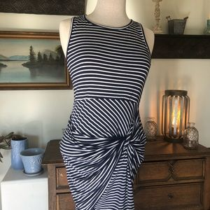Forever 21 Tank Style Blue and White Striped Dress